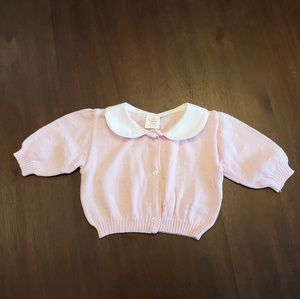 Light pink baby cardigan size 6 months